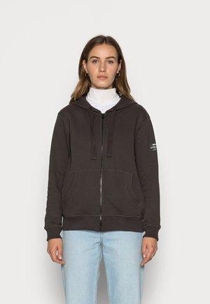 BASICALF WOMAN HOODIE - Sweater met rits - asphalt