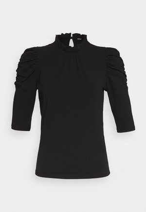 ONLLIVE LOVE SCARLETT - Long sleeved top - black