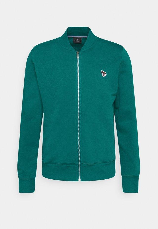 MENS ZIP BOMBER - veste en sweat zippée - green