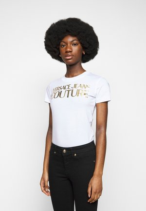 LADY - Print T-shirt - optical white/gold