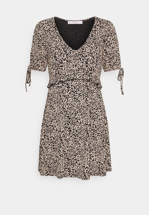 FOCHETTE SMOCK DRESS - Jersey dress - black pattern