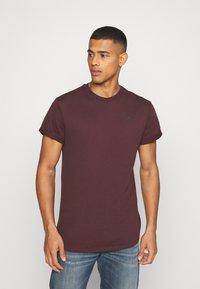 G-Star - LASH ROUND SHORT SLEEVE - Basic T-shirt - dark fig - 0