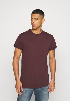 LASH ROUND SHORT SLEEVE - Basic T-shirt - dark fig