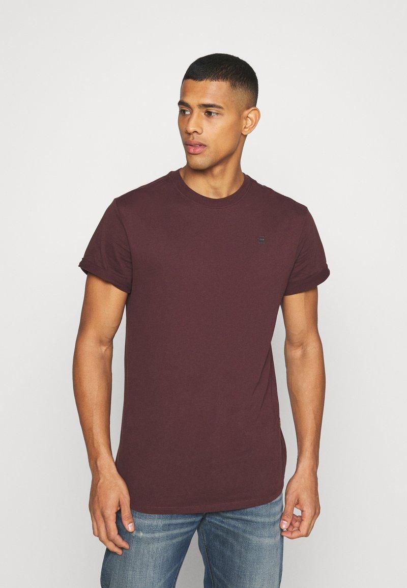 G-Star - LASH ROUND SHORT SLEEVE - Basic T-shirt - dark fig