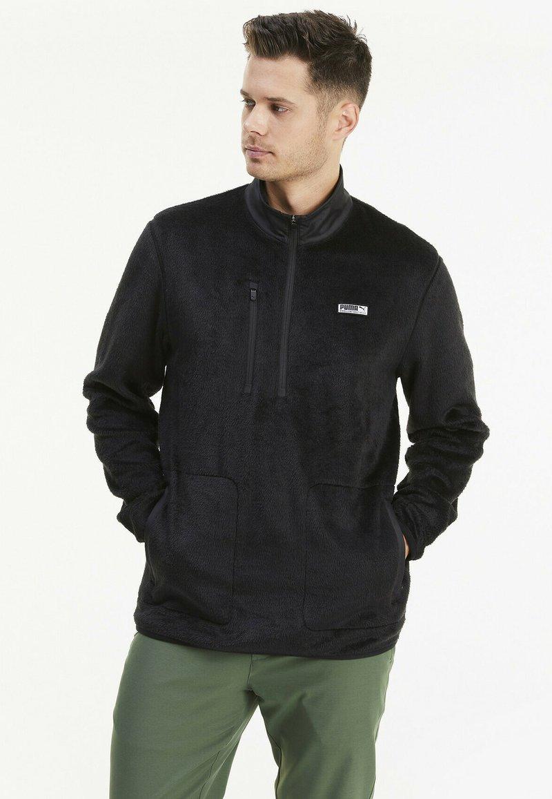 Puma Golf - SHERPA ZIP - Fleece jumper - black
