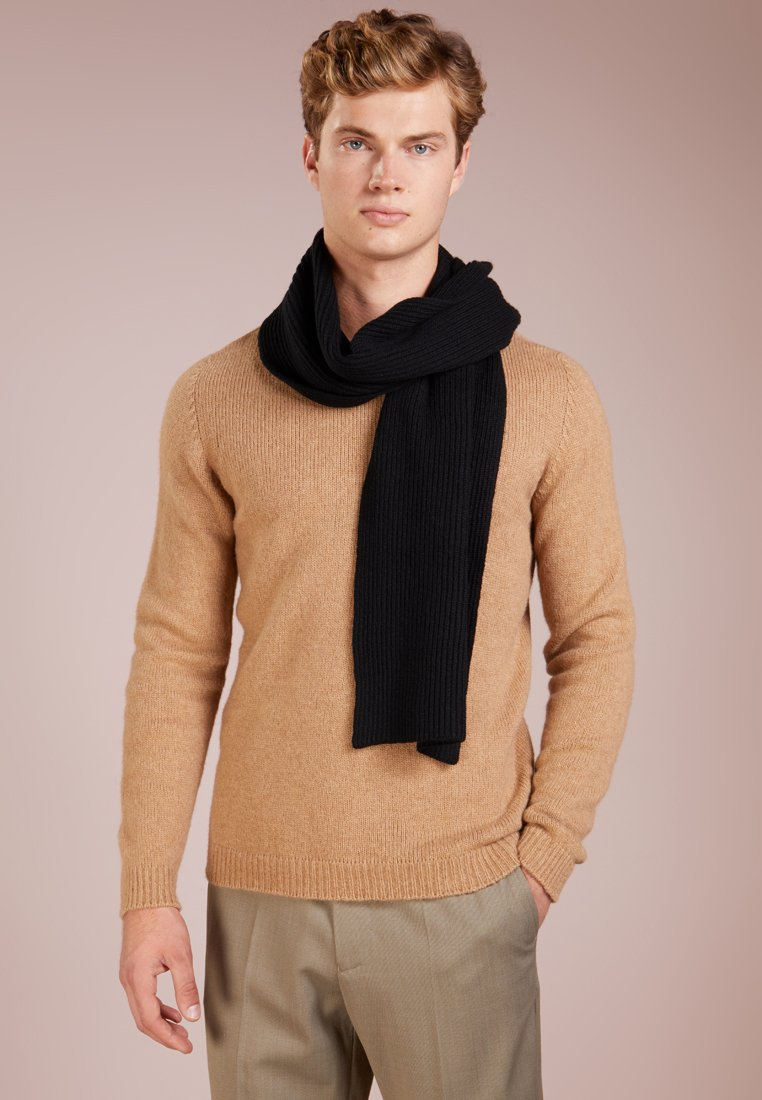 Johnstons of Elgin - RIBBED CASHMERE SCARF - Sjaal - black