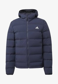 adidas Performance - HELIONIC SOFT HOODED DOWN JACKET - Down jacket - blue - 8