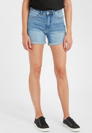 IHTWIGGY DENIM - Denim shorts - light blue
