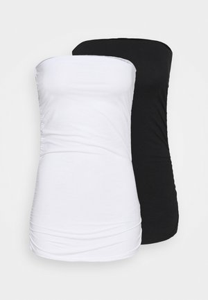 PLAIN BANDEAU 2 PACK - Top - black