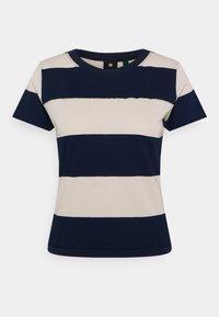 G-Star - WIDE STRIPE TEE - Print T-shirt - whitebait/sartho blue rugby - 0