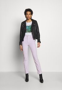 Freaky Nation - BIKER PRINCESS - Chaqueta de cuero - shadow - 1