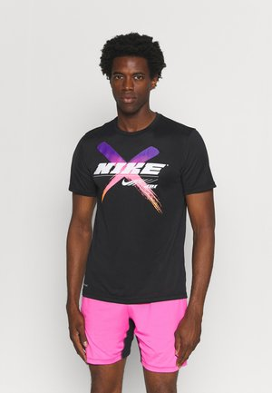 DRY TEE LEG - T-shirt print - black