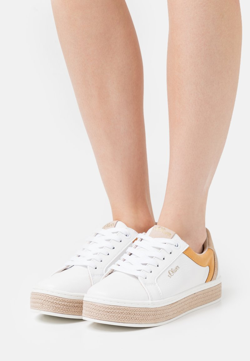s.Oliver - LACE UP - Trainers - white