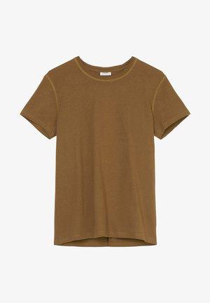 Basic T-shirt - brown ochre