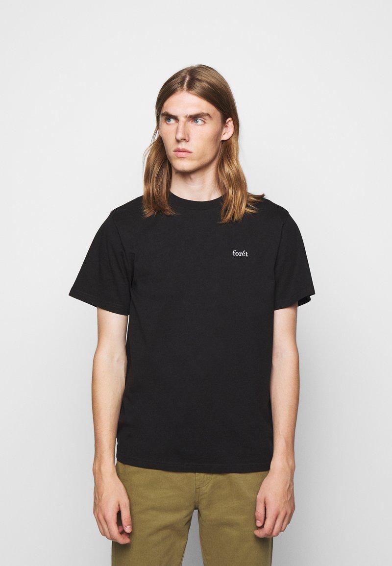 forét - AIR - Basic T-shirt - black