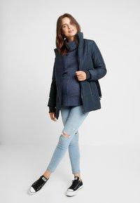 LOVE2WAIT - COAT DOUBLE ZIPPER PADDED - Winter jacket - navy - 1