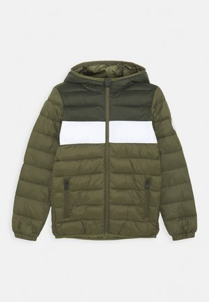 JJEMAGIC PUFFER HOOD - Winter jacket - olive night
