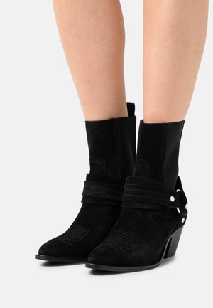 YASHARNA BOOTS - Cowboy/biker ankle boot - black