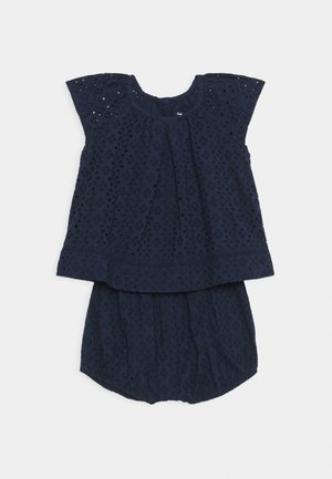 EYELET SET - Top - french navy