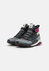 adidas Performance - TERREX TRAILMAKER MID GORE-TEX - Hiking shoes - metal grey/core black/power berry - 1