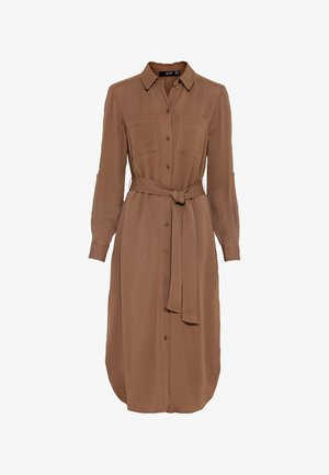 Shirt dress - noisette