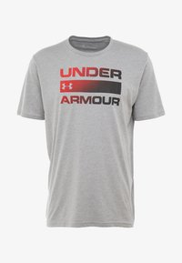 Under Armour - HEATGEAR - T-shirt print - steel light heather/black - 4