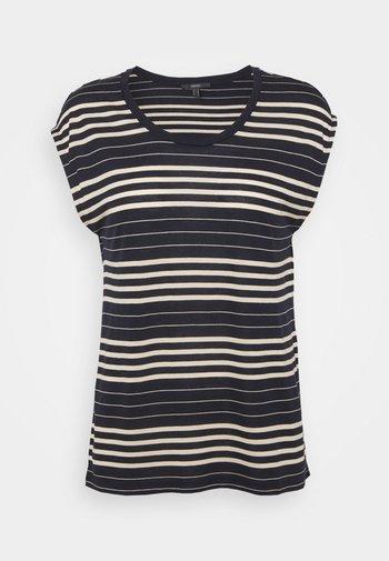 STRIPE TEE - Print T-shirt - navy