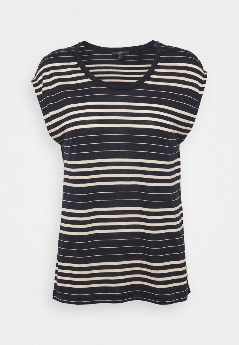Esprit Collection - STRIPE TEE - T-shirt print - navy