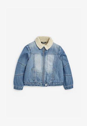 BORG - Denim jacket - blue denim