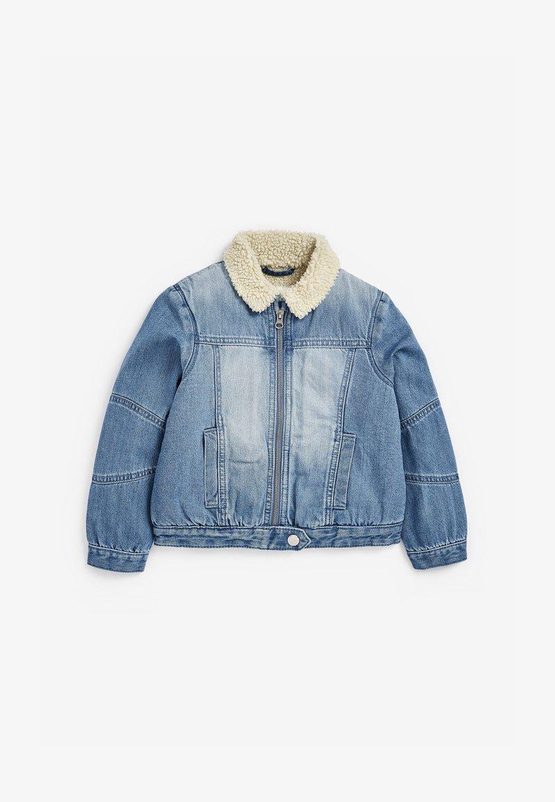Next - BORG - Denim jacket - blue denim