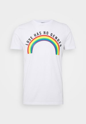 UNISEX PRIDE EAGLEBURGER - Print T-shirt - offwhite