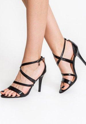 MINIERE - Sandály na vysokém podpatku - black