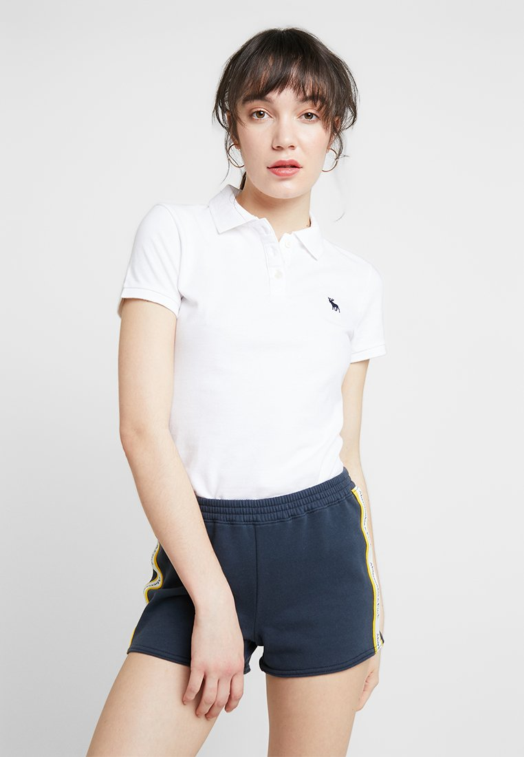Abercrombie & Fitch - LOGO CLASSIC  - Polo shirt - white