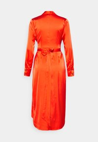 Never Fully Dressed Petite - LONGSLEEVE WRAP DRESS - Vapaa-ajan mekko - tangerine - 1