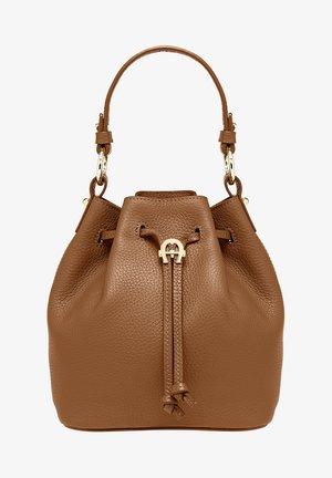 TARA - Handbag - dark toffee brown