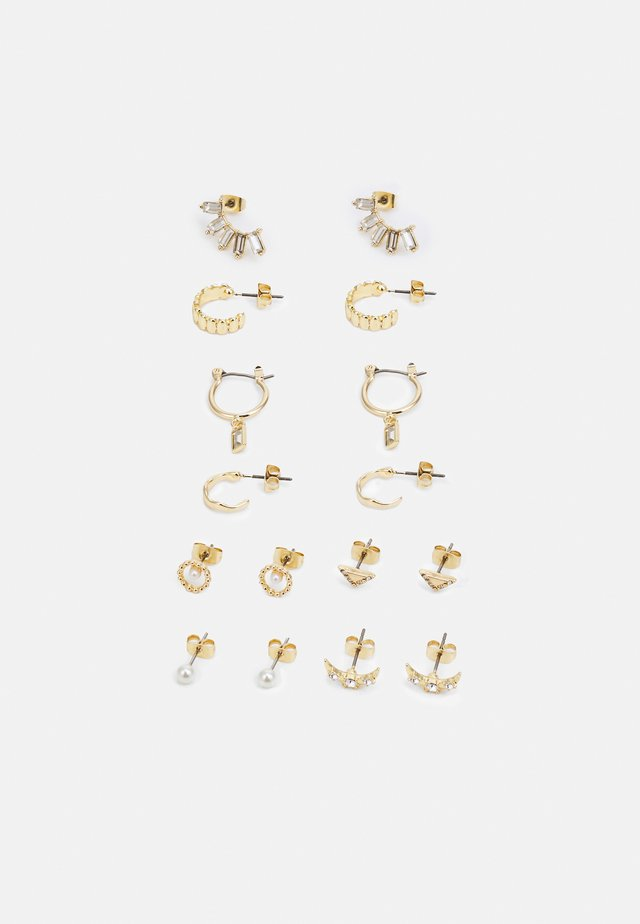 EARRING 8 PACK - Øreringe - gold-coloured