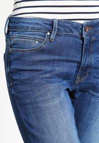edc by Esprit - HIGH SKIN PANTS DENIM - Slim fit jeans - blue denim - 3