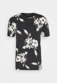 Religion - FLORAL TEE - T-shirt med print - wash black - 4