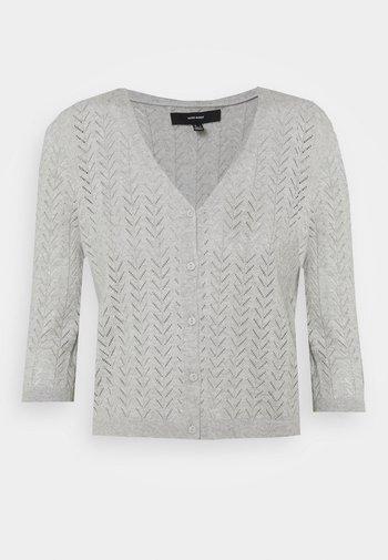 VMCADDIE 3/4 BUTTON - Cardigan - light grey melange