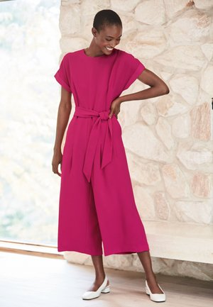 BELTED CROPPED - Jumpsuit - pink