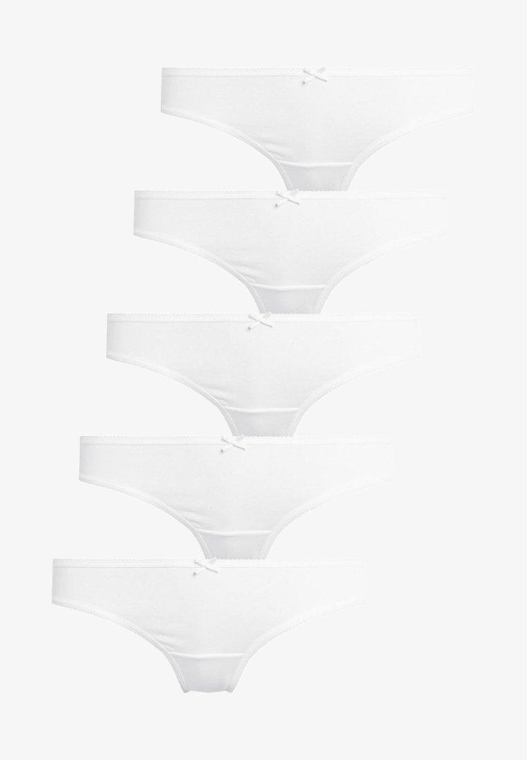 Next - COTTON BLEND THONGS FIVE PACK - Thong - white
