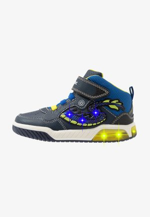 INEK BOY - High-top trainers - navy/lime