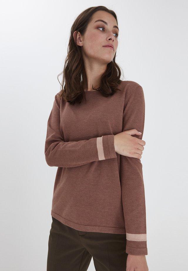 PULZ PZSARA - Sweter - brownie melange