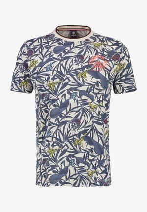 Print T-shirt - greyish white