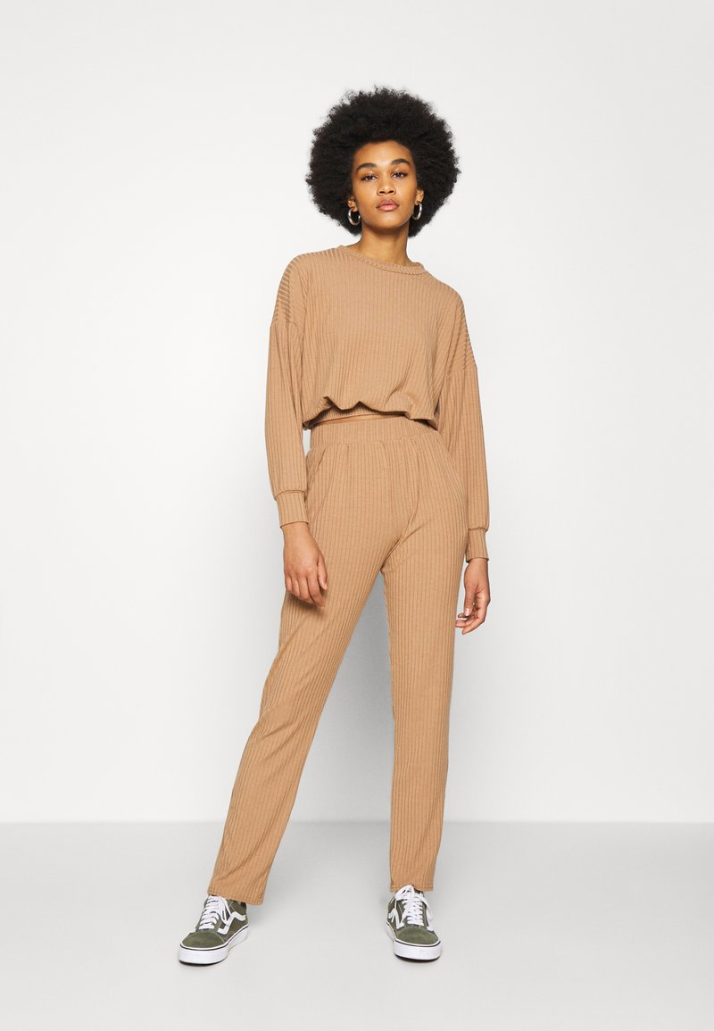 New Look - ELASTIC HEM SET - Sweatshirt - camel