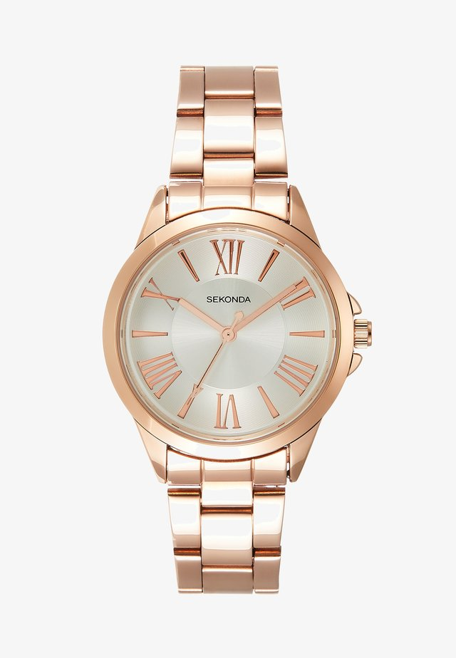 LADIES WATCH ROUND CASE - Rannekello - rose