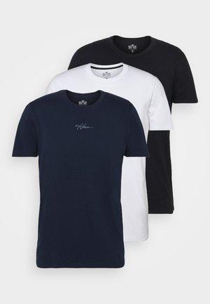 SCRIPT CREW  - T-shirts - white/black/navy