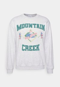 WITH MOUNTAIN CREEK CHENILE PATCHES AND VINTAGE ICE HOCK UNISEX - Sweatshirt - ash grey