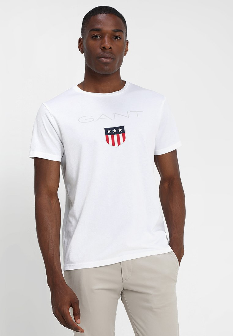 GANT - SHIELD - T-shirt med print - white