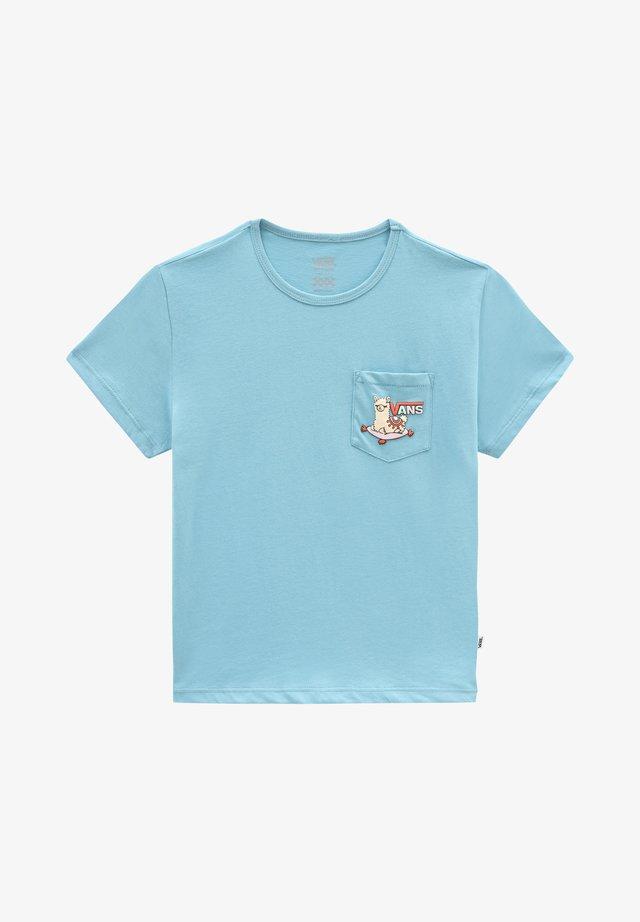 GR TINY LLAMA - T-shirt print - delphinium blue